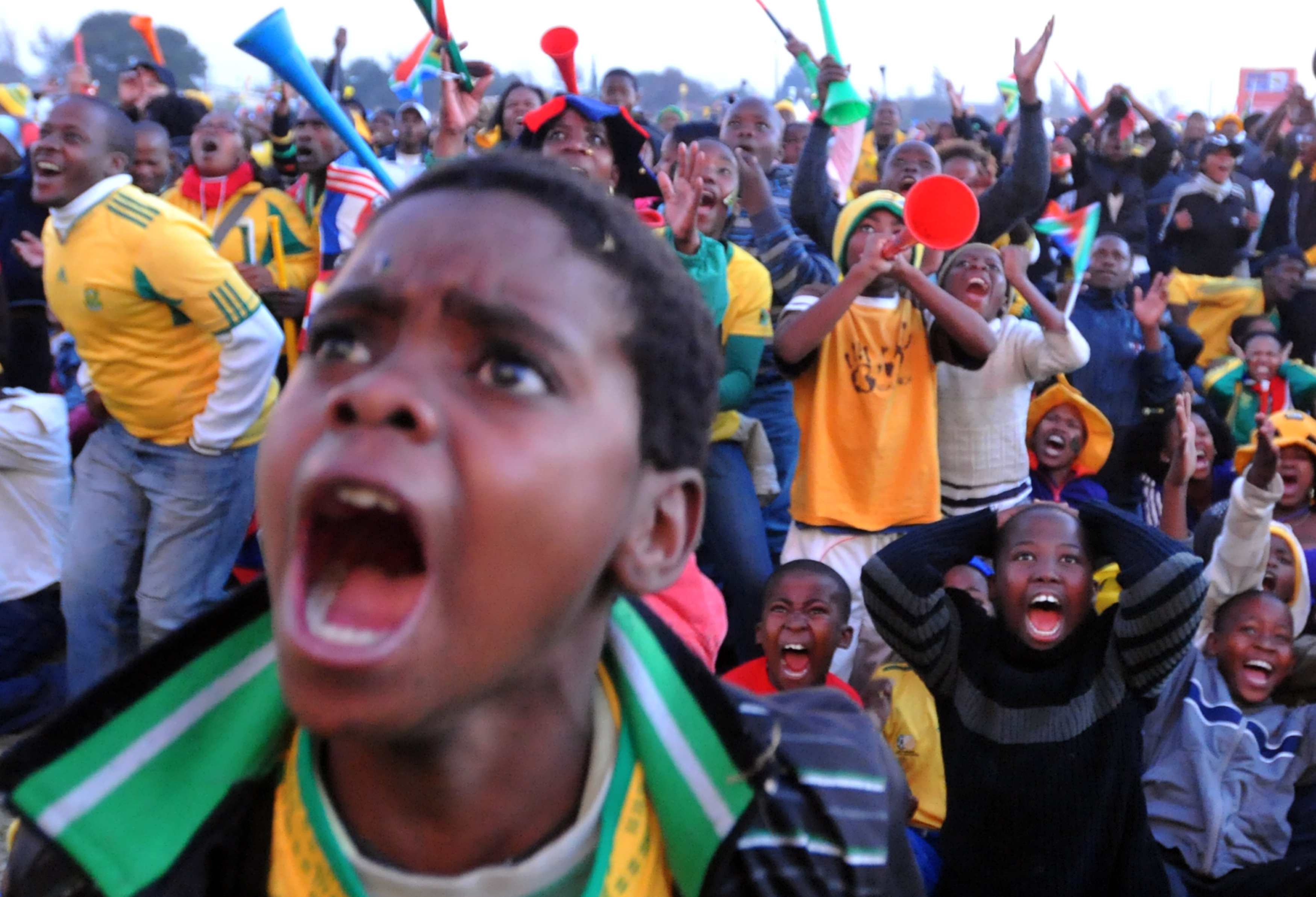 supporters sud africains