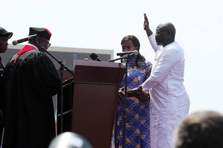 investiture weah au Liberia