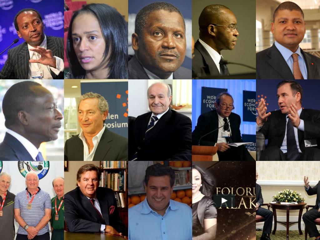 la liste des 100 milliardaires africains