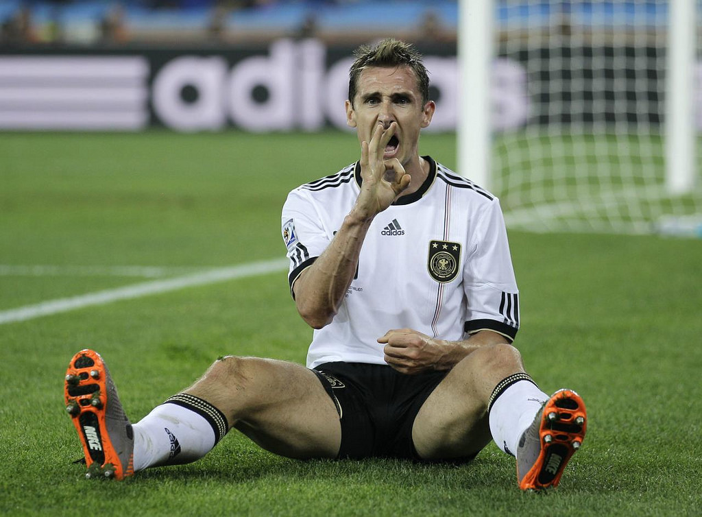 miroslav Klose, meilleur buteur de la coupe du monde de tous les temps