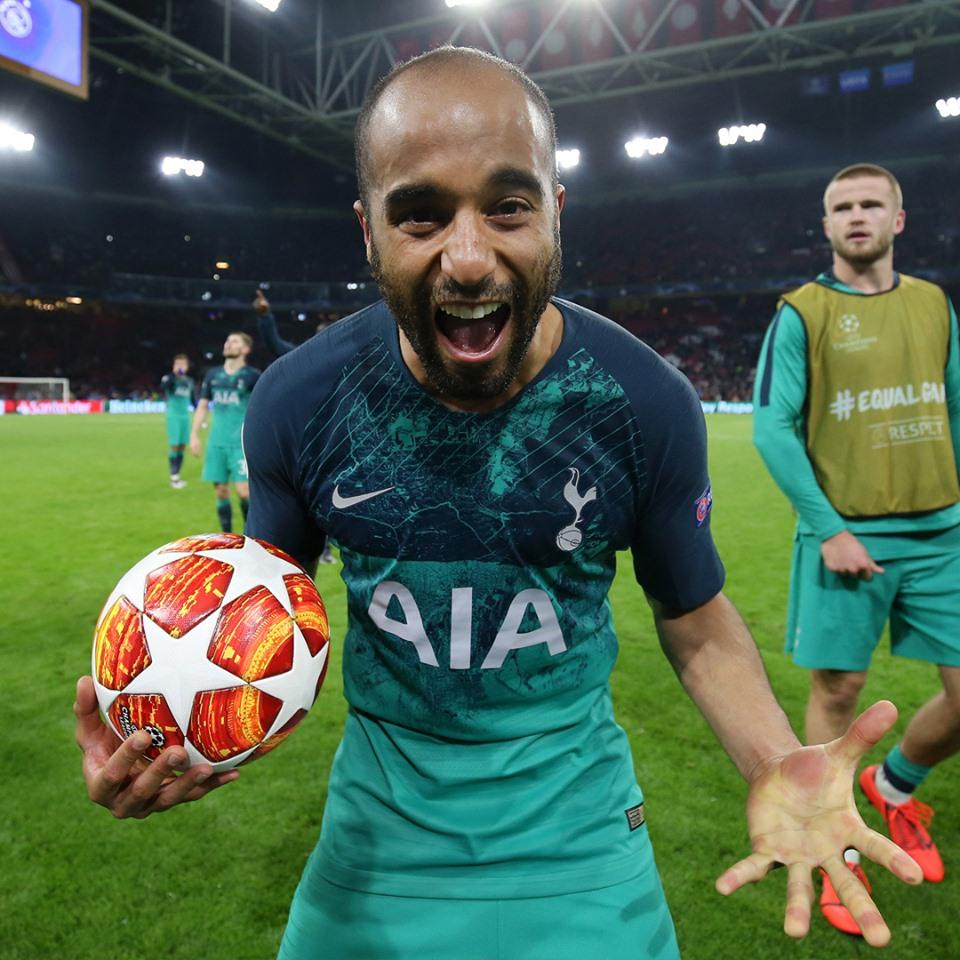 Lucas Moura Foot: Ligue Des Champions : Tottenham Bat L'Ajax Et Rejoint