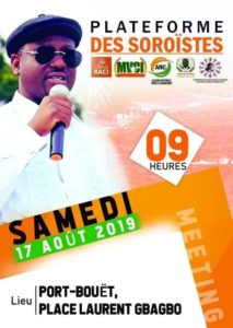 meeting mouvement soro guillaume