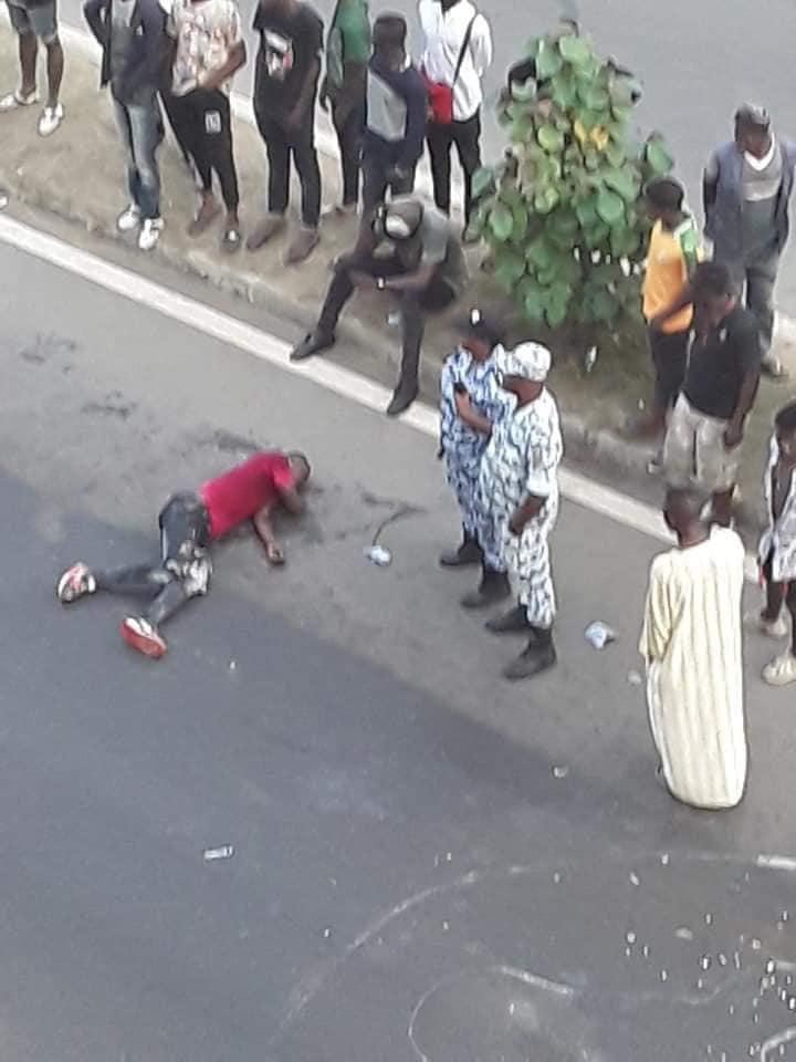 motard renversé lieu accident dj arafat
