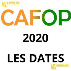 cafop 2020 dates inscription