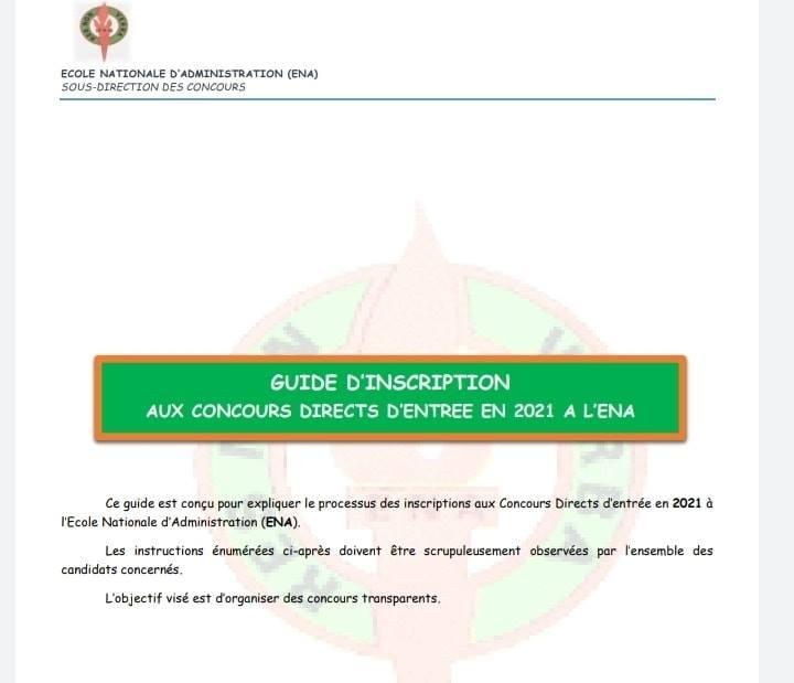 concours ena 2021 CI procédure