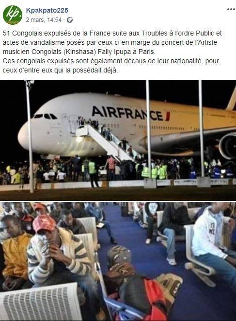 concert de fally ipupa boycotte aucun congolais expulsé