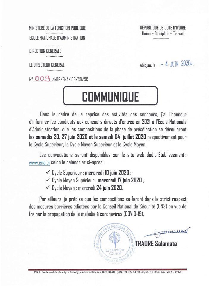 concours ena 2021 CI compositions