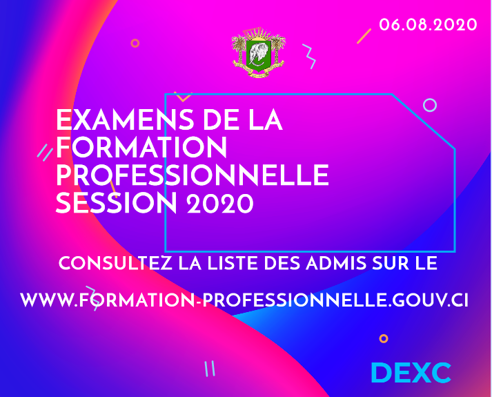 resultats examens formation professionnelle