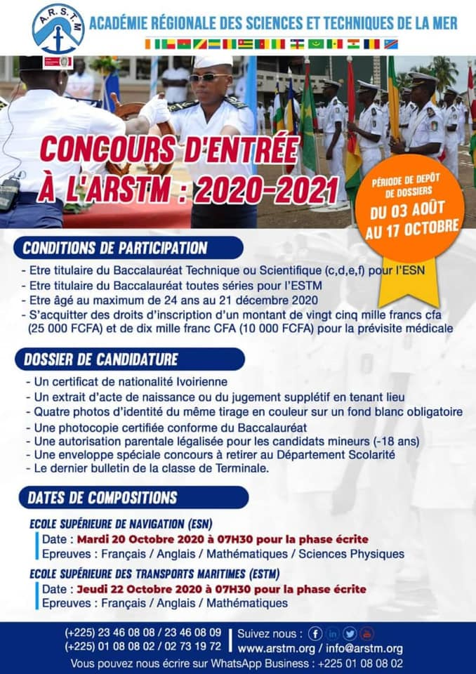 concours marine nationale, calendrier